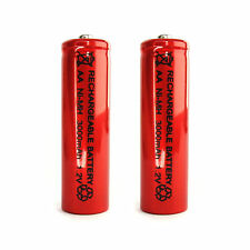 2 pcs Aa Lr06 3000mAh 1.2V Ni-Mh rechargeable battery Cell/Rc Mp3 2A Silver Red