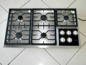 """WOLF MODEL CT36G/S-LP 36"""" LP PROPANE COOKTOP STAINLESS - REFURBISHED"""