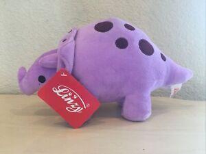 Linzy Plush 11.5'' Cory Baby Soft Plush Dinosaur with Rattle, Purple