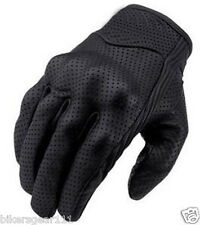 NEW SHORT STYLE PREMIUM A GRADE PERFORATED SUMMER MOTORCYCLE GLOVES size S-3XL