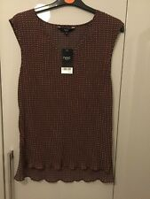 NEXT SLEEVELESS TOP WITH SIDE SPLITS SIZE 10 BNWT
