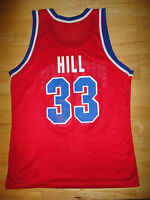 GRANT HILL Champion DETROIT PISTONS Red Jersey - Adult Size