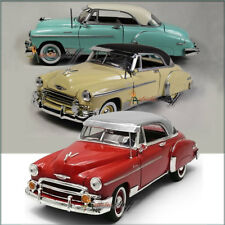 THREE Showcasts 1950 Chevy Bel Air 1:24 Scale Diecast RED, TEAL, CREAM UNBOXED