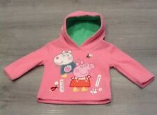 MOTHERCARE  BABY GIRL PEPPA PIG  FLEECE HOODY NEW WITH TAGS SIZE 3-6 MONTHS