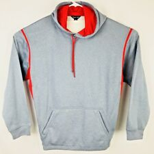 Sport-Tek Men's Hoodie Sweatshirt Front pouch pocket gray Size XL
