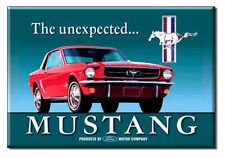 Ford Mustang Fridge / toolbox magnet 'The Unexpected...' - great gift! Classic