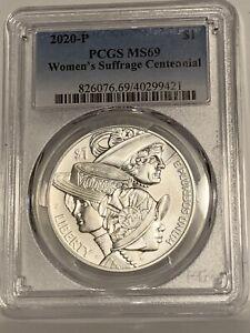 2020 P Women's Suffrage 100th Commemorative Silver Dollar PCGS MS69