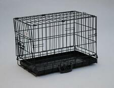 "New BestPet 20"" Black Dog Crate Cat Cage Kennel Dog House Metal Pan"