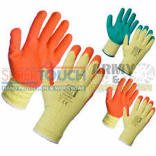 1 x Pairs Work Gloves Latex Rubber Coated Builders Brick Gardening Safety Grip