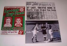 Heart of Midlothian FC Hearts FC 1956 Scottish Cup Final set of 3 photographs