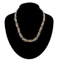 """Necklace Vintage Medium Square Bit Link Chain Gold Tone 1980S 18"""""""