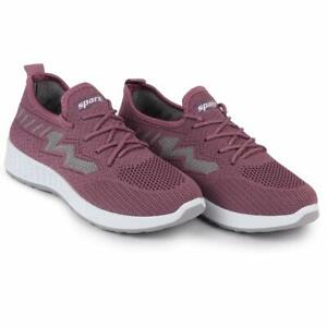 sprax stylish and unique grey pink sports shoes