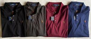 $99 NWT Mens Polo Ralph Lauren Classic Fit Soft Cotton Knit Long Sleeve Shirt