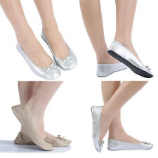 Roll Up Fold Pumps Flats after Party Shoes Pocket Foldable Dancing shoess