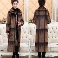 Mama Winterkleidung Pelzmantel Luxus Damenmode Nerzmantel Bodylange Winter Warm