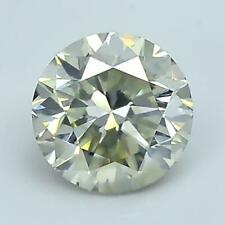 1.19Carat 100%Natural Grayish-Yellowish-Brown Round Brilliant Cut Loose Diamond