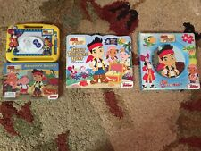 NEW Jake And The Neverland Pirates Magnetic Drawing, Lift Flap Book, Puzzle Book