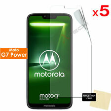 3 Pack of Clear LCD Screen Protector Cover Guards for Motorola Moto G7 Power