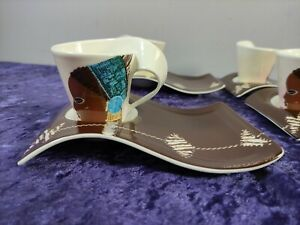 Villeroy and Boch Limited Edition 2007 Wave coffee set for 4