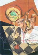 La vita ancora CUBIST l'arte moderna Juan pure scorze di frutta & CARAFE ALIMENTARE VINO OLIO