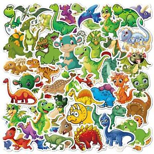 50PCS Cartoon Dinosaur DIY Stickers Vinyl Art Decal Kids Waterproof Stickers