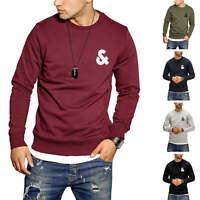 Jack & Jones Herren Sweatshirt Pullover mit Rundhalsausschnitt Sweater Unifarben