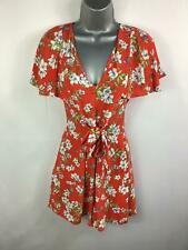 BNWT WOMENS MANGO RED FLOWER PATTERN CASUAL SUMMER JUMP/PLAYSUIT SIZE XS X SMALL