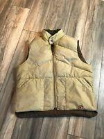 Vintage Camel Goose Down Vest Men's Large Nice