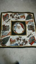 """Echo Scarf Silk made in Japan """"The Night Before Christmas"""" 35"""" sq Rolled Hem"""