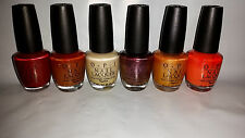 6 NEW FULL SIZE OPI NAIL POLISH LACQUER IVORY GOLD RED BRONZE LOT BBB