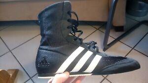 Adidas Boxschuhe Box Hog Gr. US 9/wie 41, schwarz, wie neu, unisex