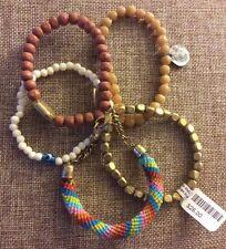 NWT $28 Stretch 5 Bracelet Set Arm Candy Boho Festival Look