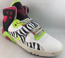 Women's Size 7.5M Adidas Basketball Sneakers Shoes multi color x45