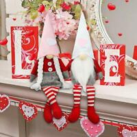 Mr and Mrs Scandinavian Tomte for Valentines Home Table Gnomes Decor MOCOIMOP 2PCS Valentines Day Gnome Decorations Handmade Elf Plush Doll Couple Faceless Dolls 2PCS-Large Valentines Gifts