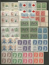 CANADA FROM GEO VI FINE UNMOUNTED MINT COLLECTION OF BLOCKS & BOOKLET PANES ETC.