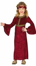 Girls Medieval Lady Fancy Dress Costume Tudor Historical Kids Book Day Outfit