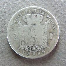 BELGIQUE - Léopold II - 2 Francs 1868, Argent
