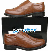 Mens New Brown Lace Up Leather Brogue Shoes Size 6 7 8 9 10 11 12 13 14