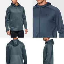 Men's Genuine Under Armour Warm Up Hoody Grey Full Zip Stylish Training Hoodie