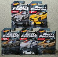 HOT WHEELS 2019 FAST AND FURIOUS 5 LOT SET MERCEDES-AMG GT NISSAN McLAREN FORD