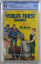 WORLD'S FINEST COMICS #49 CBCS 4.5 Superman Batman 1951 CGC 1st Tom Sparks Robot