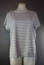 Striped Short Sleeve Petite T-Shirts for Women