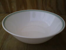 Corelle Country Cottage White Green Bands Large Serving Bowl 8 1/2 Inch