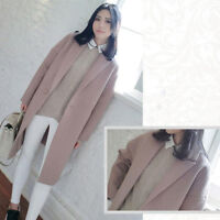 Korean Women Winter  Warm Thicken Wool Parka Trench Coat Long Jacket Overcoat cc