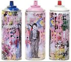 """Mr. Brainwash - """"Gold Rush"""" SPRAY CAN SET - Hand Finished Thumb Printed Numbered"""