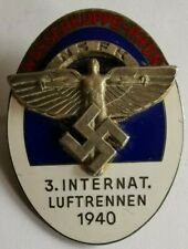 WWII  German NSFK Wasserkuppe Rhon flying competition Rally badge dated 1940