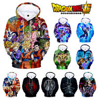 Anime Dragon Ball Super :Broly Hooded Goku 3D Print  Hoodie Sweater Pullover Top