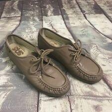 SAS Womens 6.5M Tan Taupe Leather Comfort Orthopedic Walking Shoes Comfort Slip