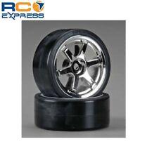 Tamiya 6-Spoke Mesh Wheels W/Drift Tires Type D (2) TAM53960