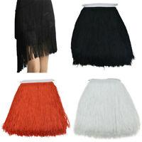 10Yard Long Tassel Fringe 30cm Fringing Trim Drop Latin Dance Costume Sewing